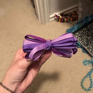 Other - Purple Ribbon Hair Bow